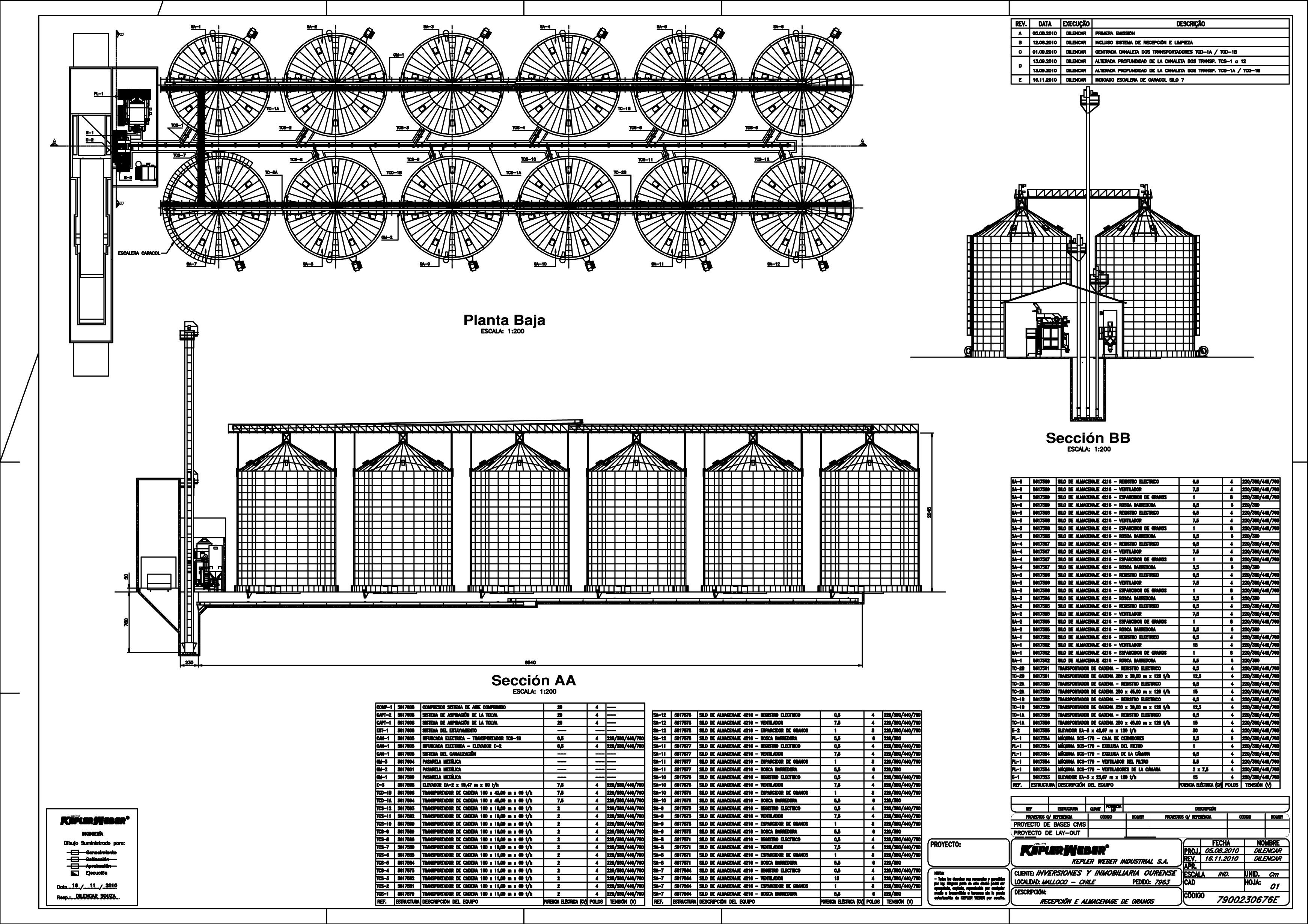 Trabajos realizados por a h arquitectura construccion a for Planos de obra civil